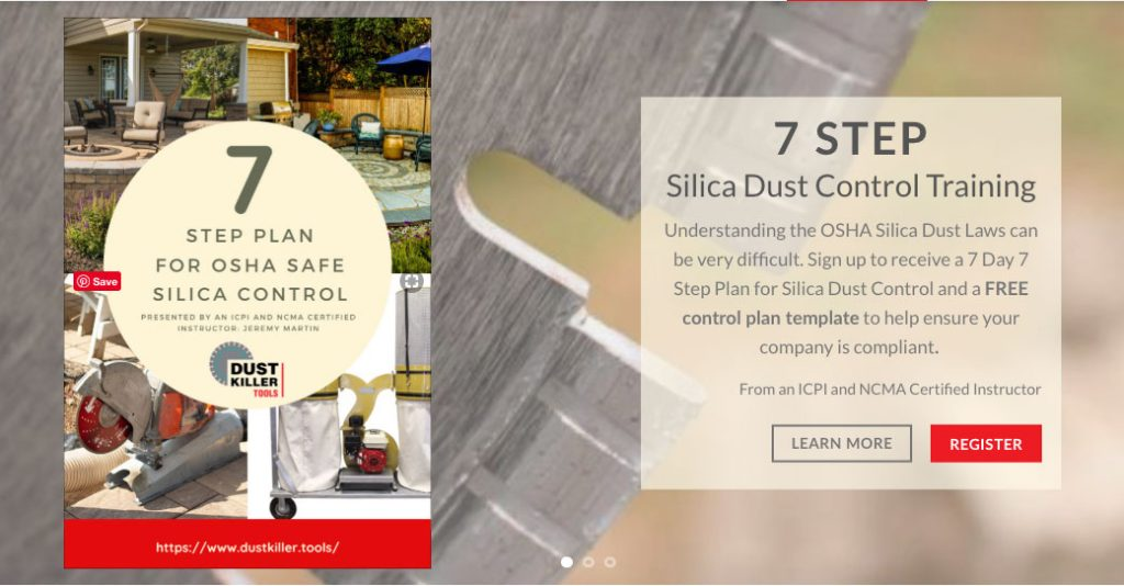 Free Silica Dust Control Training