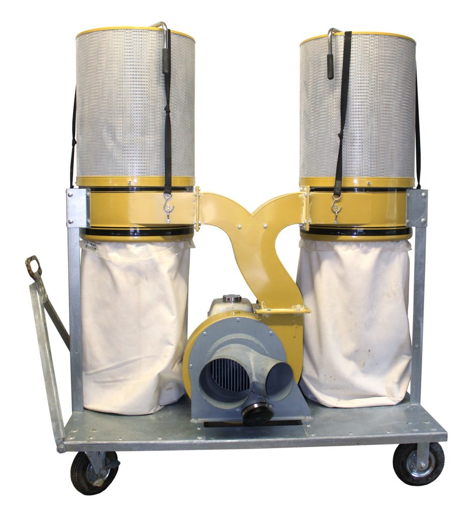 hardscaping silica dust collection system