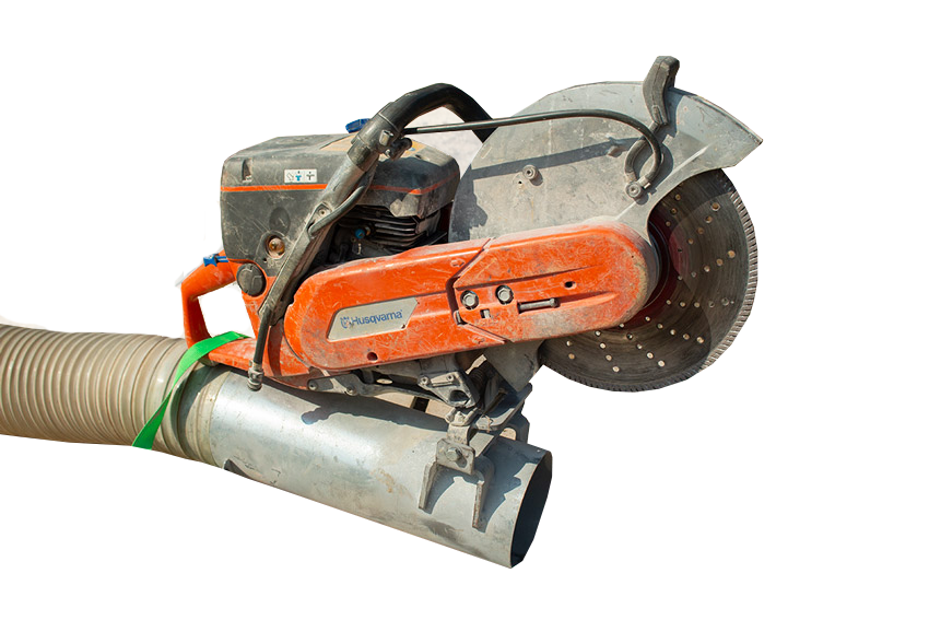 wall saw attachment